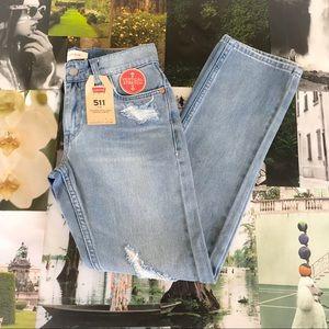 Levi's 511 Distressed Skinny Jeans
